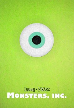 Minimal Movie Posters:  monster's inc
