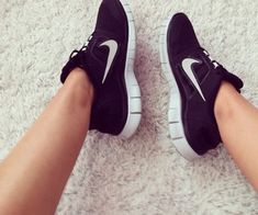 my new training shoes! LOVE LOVE LOVE! black nike free trainers. I track every bit of my work out! so exciting!