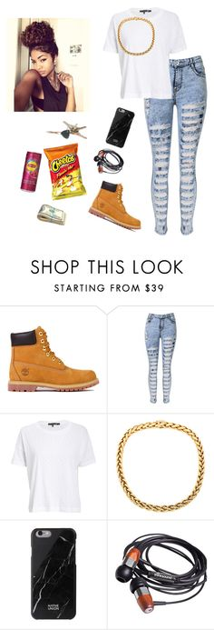 """""""road trip"""" by dopeoufits245 ❤ liked on Polyvore featuring Timberland, rag & bone/JEAN and Native Union"""