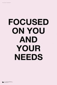 Focus on you .....