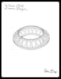 #EddieBorgo | Designer Sketch | Lattice Bangle