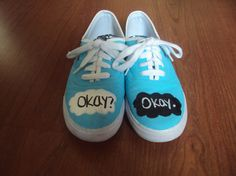 The Fault in our Stars shoes by KayDeeShoes on etsy.com. Based on the book by John Green. OMG!!!!! HAVE TO HAVE EM!