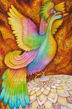 Phoenix  A Magical Firebird by HollySierraArt on Etsy, $30.00