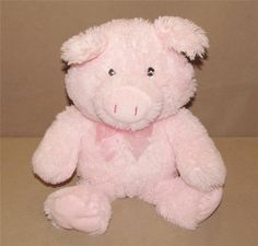 """Best Made Toys Pink Pig Plush Stuffed Animal Bow Floppy 16"""" Toy CNQINFUT45QIN #BestMadeToys"""