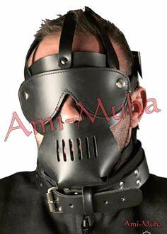 Buy Now | Top Quality Leather Hand Made Bondage Hood #Amimuha