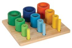 Guidecraft Nesting Sort Stack Cylinders by Guidecraft. $20.16. Guidecraft Nest & Stack Blocks. 823987p The unique design of this wooden manipulative block set allows for several exciting ways to play and learn. These brightly colored blocks (available in either cubes or cylinders) are graduated in size and nest together, inspiring exploration and promoting fine-motor and shape-recognition skills. Each series of shapes feature colors that range from primary to pas...