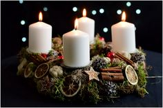 photo © Monika Bartz #wieniecadwentowy #adwent #adventwreath #adventkranz #wreath #advent #homedecor #candle #candleholder