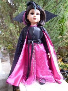 Vampire or Steampunk special occasion dress for 23 inch my twinn / My Twinn or similar dolls (DOLL NOT INCLUDED) by SewUniqueDolls on Etsy