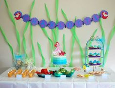 the little mermaid cricut ideas | Little Mermaid Birthday Party - The Little Mermaid