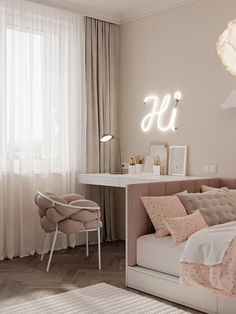 Mocco stylish Apartment design bedroom girls // cgi visualization from Artist Ivanna Pavlus, hilight. Rendering done in Autodesk Max, Corona Renderer, Autodesk Revit Room Design Bedroom, Girl Bedroom Designs, Room Ideas Bedroom, Home Room Design, Small Room Bedroom, Bedroom Decor, Bedroom Girls, Master Bedroom, Master Suite