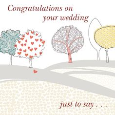 carte flicitation mariage superbe avec arbres couronnes motifs - Mot De Flicitation Mariage