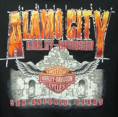 Alamo City Harley Davidson San Antonio TX Fathers Day Graphic Tee 2XL Black #HarleyDavidson #GraphicTee