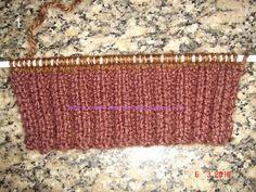Tecendo Arte-Tricô & Crochê: Passo a Passo - Meia Tricô agulhas retas - Tam. 35 Knitted Hats, Knitting Patterns, Diy And Crafts, Slippers, Womens Fashion, Grande, 35, Knit Baby Booties, Crochet Winter