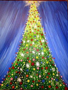 Canvas Painting Kids, Christmas Canvas Paintings, Christmas Tree Painting, Winter Painting, Diy Painting, Christmas Trees For Kids, Christmas Art, Christmas Projects, Christmas Decorations