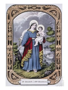 St Philomena,Religous,Virgin /& Martyr,c1845,Currier /& Ives Photograph