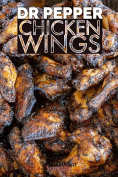 Smoked Dr Pepper Chicken Wings • Smoked Meat Sunday
