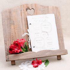 Atril de madera para bodas #rustic #wedding #decor