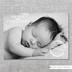Photo Holiday Card  DIY Printable or Printed  by ViriLovelyDesigns