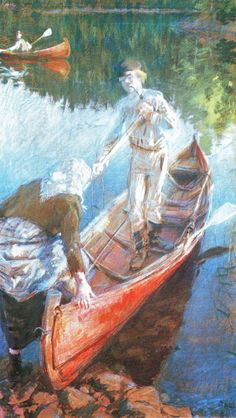 The Athenaeum - Midsummer's Night (Akseli Gallen-Kallela - ) North Europe, Painter Artist, Closer To Nature, Vintage Artwork, Nocturne, Summer Nights, Great Artists, Lovers Art, Finland