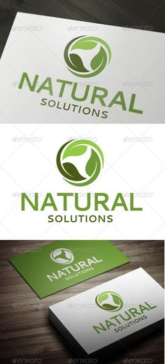 Natural Solutions  EPS Template • Download ➝ https://graphicriver.net/item/natural-solutions/3352959?ref=pxcr