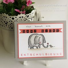 """Papierkreationen.net: Eine dicke Entschuldigung mit """"Love you lots!"""" Stamping Up, Stampin Up Cards, Love You, Presents, Gifts, Inspiration, Sorry Cards, Sorry Gifts, Diy Presents"""