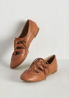 Every afternoon spent in these vegan faux-leather flats by Restricted is an afternoon spent dancing. Pals who drop by to see the caramel hue, perforated trim, and cutouts of these Oxford-inspired lace-ups will have to catch up with you by way of the Charleston or the conga!