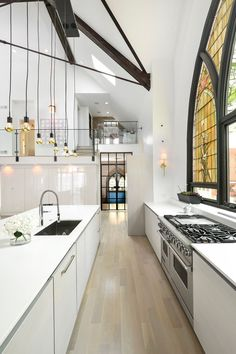 Church Conversion - Picture gallery #architecture #interiordesign #kitchen #conversion #white