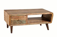 Stein World Furniture Orbit Wood Cocktail Table, Natural Printed