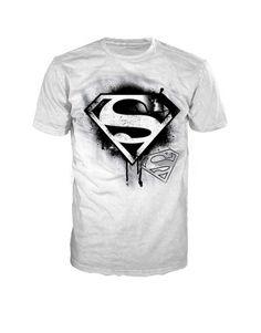 white superman t-shirt