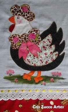 Applique Cushions, Applique Quilts, Embroidery Applique, Machine Embroidery, Applique Templates, Applique Patterns, Quilt Patterns, Chicken Quilt, Dresden Quilt