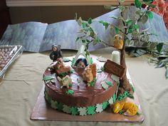 Woodland Animal Theme Cake Baby Shower Cake