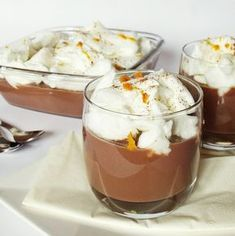 * Floating Island with chocolate, recipe in Hungarian Hungarian Desserts, Hungarian Recipes, Slovak Recipes, Food Festival, Sweet Desserts, Other Recipes, Cakes And More, Sweet Tooth, Food Porn