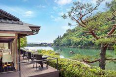Cafe Hassui, Suiran Hotel, Kyoto, Japan