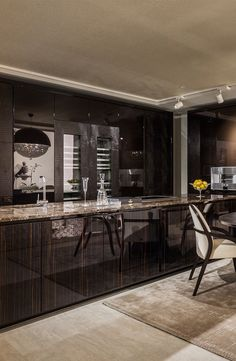 Fendi Casa Ambiente Cucina views from Luxury Living new showroom in Miami Design District