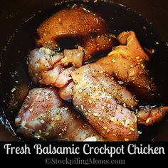 Fresh Balsamic Crockpot Chicken