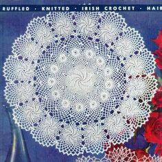 American #124 c 1955 9 Projects Doilies Crochet Vintage Book Pattern PDF 0159