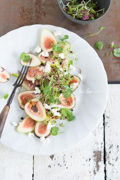 Fig Salad with Marinated Danish Feta & Sweet Balsamic Vinegar - Two Loves Studio