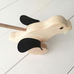 Houten duwstok zeehond