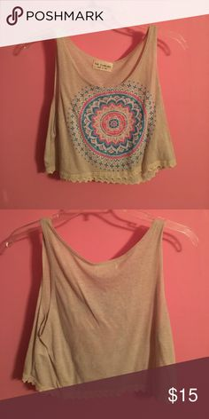 Boho Crop Top So cute! Just too small for me now. Worn once. The Classic Tops Crop Tops