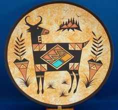 Native American Ceramic & Hand Painted Navajo Indian Pottery Antelope Plate by Westly Begaye. $59.99 plus 8.00 shipping. Just Click on the above picture to be taken to the Ebay listing.