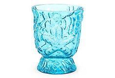 "One Kings Lane - Napa Home & Garden - 5"" Seaside Vase, Blue"