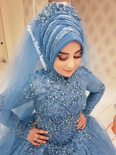the # design # Hijab the I Hijab Wedding, Muslimah Wedding Dress, Hijab Bride, Beautiful Muslim Women, Beautiful Hijab, Abaya Fashion, Muslim Fashion, Bridal Hijab Styles, Casual Bridesmaid Dresses