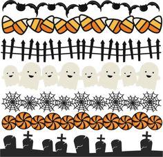 Halloween Borders Set SVG scrapbook title spiderweb svg cut file halloween svg cuts free svgs