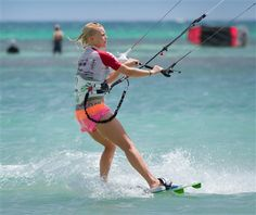 Female Kitesurfing and kiteboarding Portrait Photography of Female Kitesurfers by Tony Filson