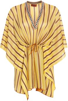 Short Bi Colour Kaftan - Lyst
