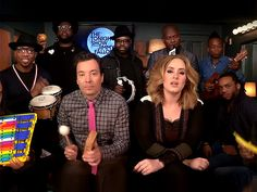 Watch Adele Sing 'Hello' with Jimmy Fallon and The Roots Using Classroom Instruments ... and a Toy Flip Phone http://www.people.com/article/adele-jimmy-fallon-hello-classroom-instruments