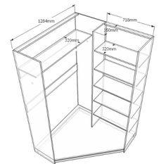 асимметричный угловой шкаф - Поиск в Google