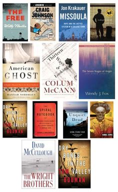 FAVORITE READS FROM 2015 Daniel James Brown, Boys In The Boat, Colum Mccann, Craig Johnson, Dry Bones, Reading, Books, Livros, Word Reading
