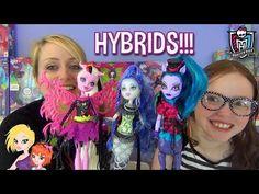Monster High Hybrids Sirena Von Boo, Avea Trotter and Bonita Femur Doll Reviews