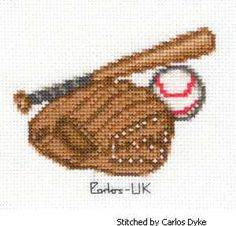 Baseball cross stitch pattern.